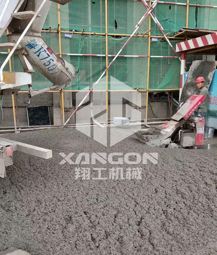 客户反馈:二次结构构造泵的施工现场